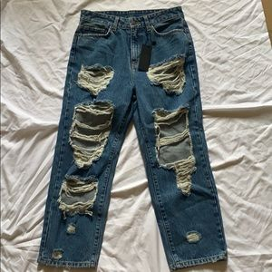 Ripped Hermia Carmar Non-Stretch Jeans